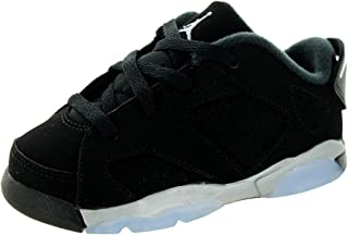 [768883-003] AIR Jordan AJ 6 Retro Low BT Infants Sneakers AIR JORDANBLACK Metallic Silver White