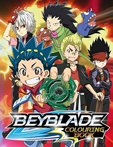 Beyblade Colouring Book: Funny Coloring Book With 40 Images For Kids of all ages