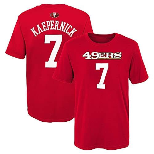 Outerstuff Colin Kaepernick NFL San Francisco 49ers Mainliner Jersey Red T- Shirt Boys (4 b8a904976