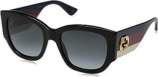 Gucci GG0276S Plastic Square Multicolor Sunglasses Size 53 mm
