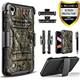 LG XPower Case, LG X Power Case, LG K6P Case, [Combo Holster] Phone Cover and Built-in Kickstand Bundled with [HD Screen Protector] Shockproof and Circlemalls Stylus Pen for LG XPOWER/LG K6P(Camo)
