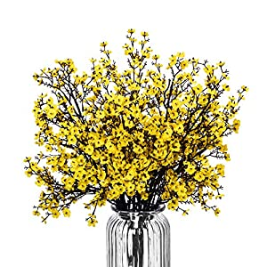 """Baby Breath Gypsophila Artificial Flowers, Babies Breath Flowers Bush Artificial Gypsophila Silk Silica Real Touch Blooms for Wedding Bridal Party DIY Home Floral Arrangement Decor, 10 Bundles, 19.7"""""""