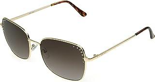 Nine West Women's Jenni Sunglasses Round, Gold, 58mm