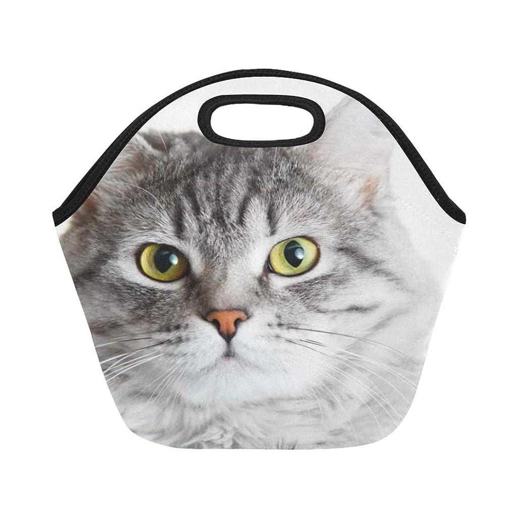 織るマーキングこれまでXHQZJ ランチバッグ 幼い グレー猫 弁当袋 お弁当入れ 保温保冷 トート 弁当バッグ 大容量 トートバッグ