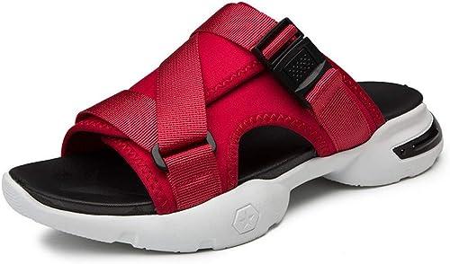 GJLIANGXIE Sandales pour Hommes Pantoufles Sandales Masculines De La Mode Coréenne Portent des Chaussures De Sport Décontractées Antidérapantes Faites Glisser Leur Personnalité