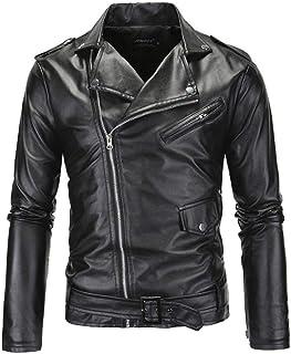 Generic Mens Fashion Faux Suede Lapel Zip up Slim Jacket Coat Outwear Green XS