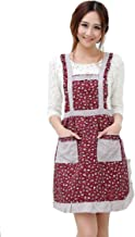 Hyzrz Newly Cute Pastoral Style Fashion Flower Pattern Housewife Home Chef Cooking Cotton Apron Bib with Pockets 5#