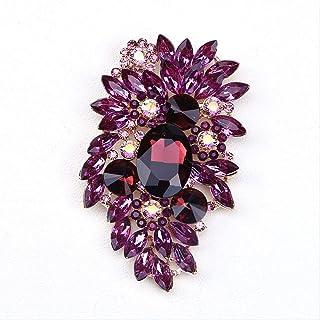 CBCJU Personalidad Creativa de Moda Broche de Cristal Accesorios de Vestir para Damas Europeas 10 * 6.2cm