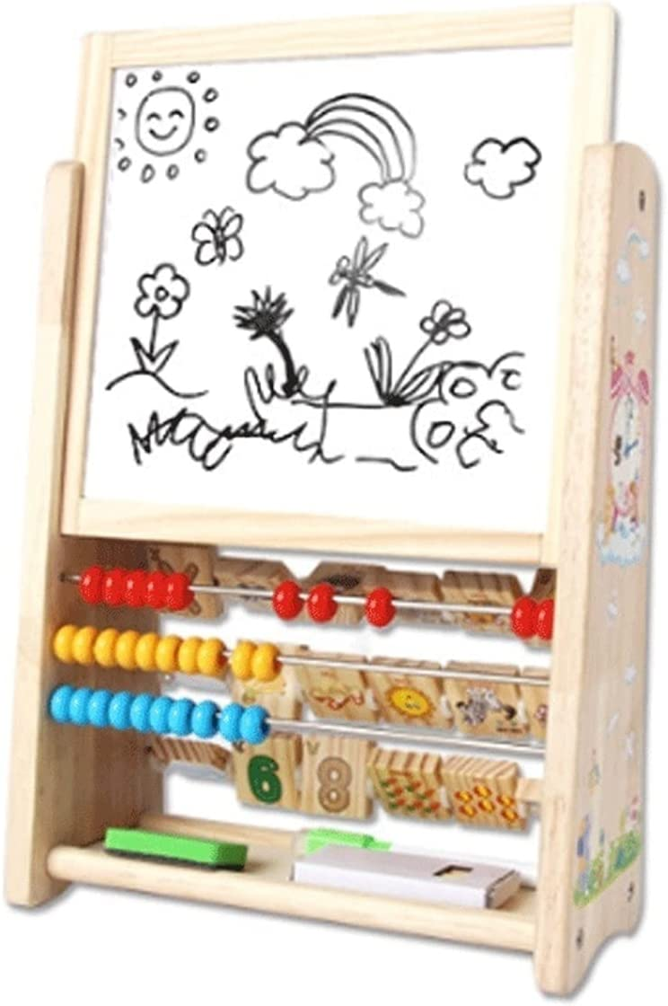 LICHUAN Kids Art Max 86% OFF Easel Multifunctional Wooden Double Sided Save money