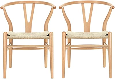 Amazon.com: Poly and Bark Wegner Silla estilo Wishbone ...
