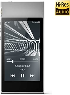 M7 High Resolution Lossless Music Player with aptX, aptX HD, LDAC HiFi Bluetooth, FM Radio and Full Touch Screen (Silver)