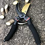 """gonicc 8"""" Professional Premium Titanium Bypass Pruning Shears (GPPS-1003), Hand Pruners, Garden Clippers. 11 Drop forged body and handles. Quality blade made of Premium Titanium steel with Ultra-fine Polishing Technology. Ergonomically designed non-slip handles are strong,lightweight,and comfortable."""
