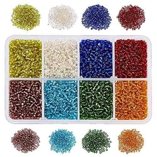 NBEADS Acerca de 12500Pcs 8 Colores Cuentas de Semillas, 2 mm Cuentas...