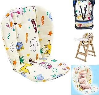 Baby High Chair Cushion, Baby Seat Cushion/High Chair Cushion, Cute Pattern Cushion Soft Double-Sided Padded Cushion Breathable (Giraffe)