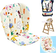 Baby High Chair Cushion, Baby Seat Cushion/High Chair Cushion, Cute Pattern Cushion Soft Double-Sided Padded Cushion Breathable (Giraffe)