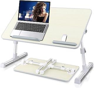 میز کار لپ تاپ Aneitera Premium ، میز سینی تخت لپ تاپ قابل تنظیم ، میز کامپیوتر نوت بوک قابل حمل ، سینی صبحانه برای غذا خوردن ، میز قرص تاشو برای مبل نیمکت مبل طبقه