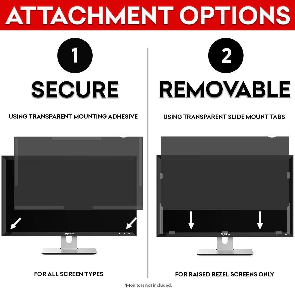Anti-Glare PaceBid Privacy Screen Filter for DELL P2421DC Desktop Computer Widescreen Monitor Anti-Scratch Blocks 96/% UV Blue Light Protection Privacy Protector
