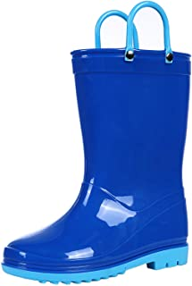 Kids Rain Boots for Boys Girls Waterproof Toddler Rain Boots with Easy-On Handles
