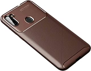 FanTing Case for LG Q92 5G, Anti-Slip Ultra Thin Shock Absorption Anti Scratch Protective, Cover for LG Q92 5G -Brown