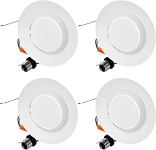 TORCHSTAR 15W 5/6 Inch Dimmable LED Recessed Downlight Retrofit, Ultra Bright 1000lm, 100W Eqv, Energy Star & UL Certified, High CRI 90+, 4000K Cool White, 5 Years Warranty, Pack of 4