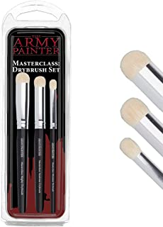 The Army Painter   Masterclass: Drybrush Set   Hobby Brush Set in Three Sizes for Advanced and Professional Techniques for...