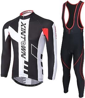 Pantaloni Lunghi di Ciclismo Ciclismo Jerseys per Uomo SKYSPER Moda Set Completo Abbigliamento Ciclismo da Uomo Maglia con Lunghe Maniche Tuta