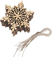 10pcs Snowflake 2020 Christmas Ornament Wood Theme Christmas Ornament Mature Content Holiday Gift Remembrance Keepsake Gift