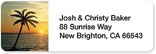 Tropical Golden Sunset Set of 215 Sheeted Address Labels