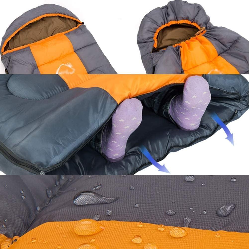 Color : Blue FTW Busta Autunno Inverno con Cappuccio da Viaggio Allaperto Campeggio Impermeabile Spessa 1,3 kg Sacco A Pelo Wind Tour Termico Adulto Sacco A Pelo