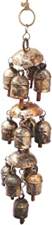 De Kulture Works Bell Metal Chandelier Wind Chime 14.5X2.5X14.5 LWH (Inches) for Hanging Decoration Ideal for Valentine Gi...