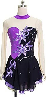 Gymnastics long sleeve Dancing Ballet Gymnastics Leotard for Girls 5-12 Years Gradient Color Diamond Sparkle Design,M