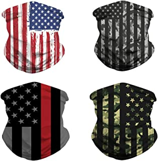 4pcs Cooling Neck Gaiter/US Flag Gaiters/Face Cover for Outdoors, Festivals, Sports Unisex