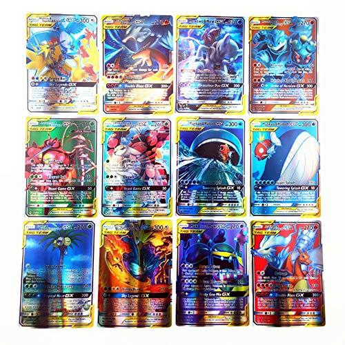 120pcs Spielkarte Für Tag Team, 80 Karte Für Tag Team, 20 Karte Für Mega, 20 Karte Für GX, Shiny Pokemon Sammelkartensätze, Geeignet Für 5 Jahre