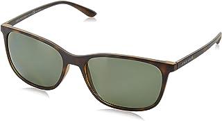 707184050 ARMANI Men's 0AR8084 50899A 57 Sunglasses, Matte Havana/Polargreen