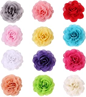 12PCS Cat Dog Collar Flowers Pet Bow Tie Charm Collars for Puppy Kitten Collar Grooming Accessories