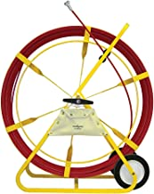 Jameson 13-716-1000M Duct Hunter Traceable Electrical Fish Tape Duct Rodder with 1000 Feet of 7/16-inch Fiberglass Rod Marked Every 5 Feet