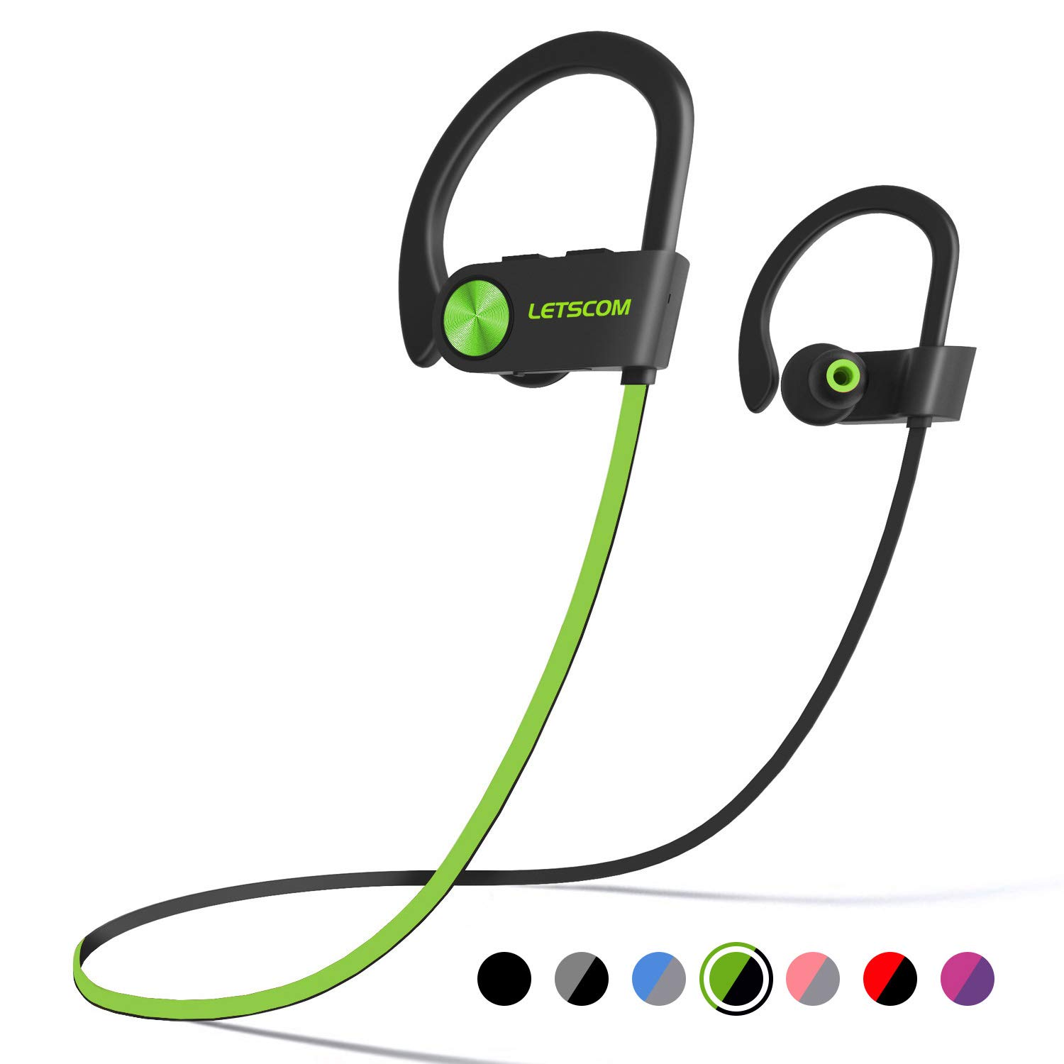 LETSCOM Headphones Waterproof Sweatproof Cancelling
