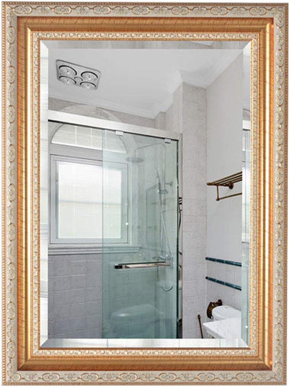 Bathroom Mirror Hotel Mirror Frame Rectangle Wall Mirror for Vanity, Bedroom, or Bathroom Hangs Horizontal & greenical