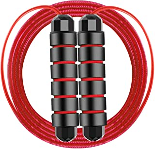 Workout Jump Rope Adjustable Tangle-Free Skipping Rope with Comfortable Soft Handle,Excercise and Fitness Jump Rope Workout for Girls,Boys,Men,Women,Adults,Kids.