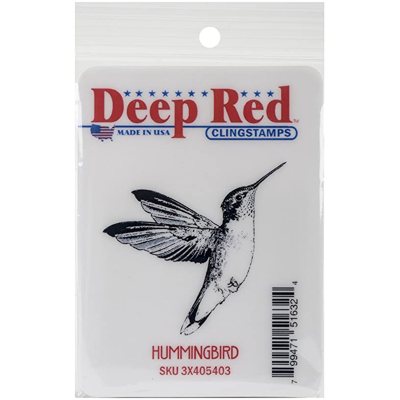 Deep Red Stamps Hummingbird Cling Stamp, 2