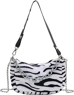 حقيبة كتف نسائية عصرية، حقيبة يد من القطن المضلع للنساء ذات سعة كبيرة حقيبة يد تحت الإبط (اللون: نمط 2 3)