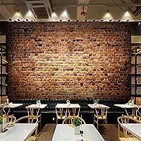 QQYYYT ウォールアートポスター-3D写真壁紙ベッドルームウォールレトロ赤レンガ壁画3D壁紙ロールペーパーリビングルームアールデコポスター壁装飾絵画