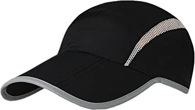 Connectyle Foldable Mesh Sports Cap with Reflective Stripe Breathable Sun Runner Cap