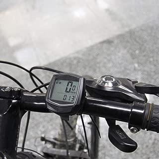 Qewmsg Cuentakilómetros Bicicleta con Cable cronómetro