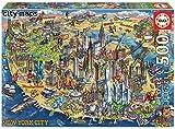 Educa Borras - Serie City Maps, Puzzle 500 piezas Mapa de Nueva York