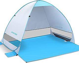 G4Free Automatiskt pop-up tält 2–4 personer utomhus strand sol tält UPF 50+ anti-UV skydd omedelbar öppen bärbar Cabana