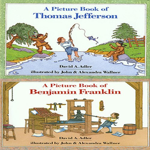 'A Book of Thomas Jefferson' and 'A Book of Benjamin Franklin' audiobook cover art