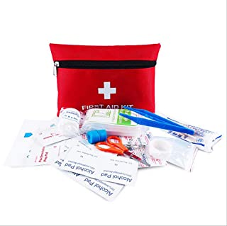 First Aid Kit Pouch, 13 Pieces Compact Waterproof Mini Emergency Bag Survival Kit for Home, Office, Vehicle, Travel, Campi...