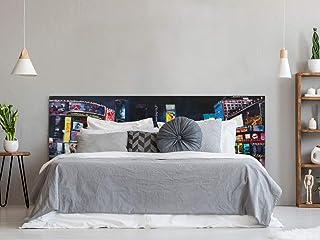 Cabecero Cama Nueva York Pintura 115x60cm | Color Blanco | Diponible en Varias Medidas | Cabecero Ligero, Elegante, Resistente y Económico
