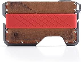 Dango D01 Dapper EDC Wallet - Made in USA - Genuine Leather, CNC Alum, RFID Blocking